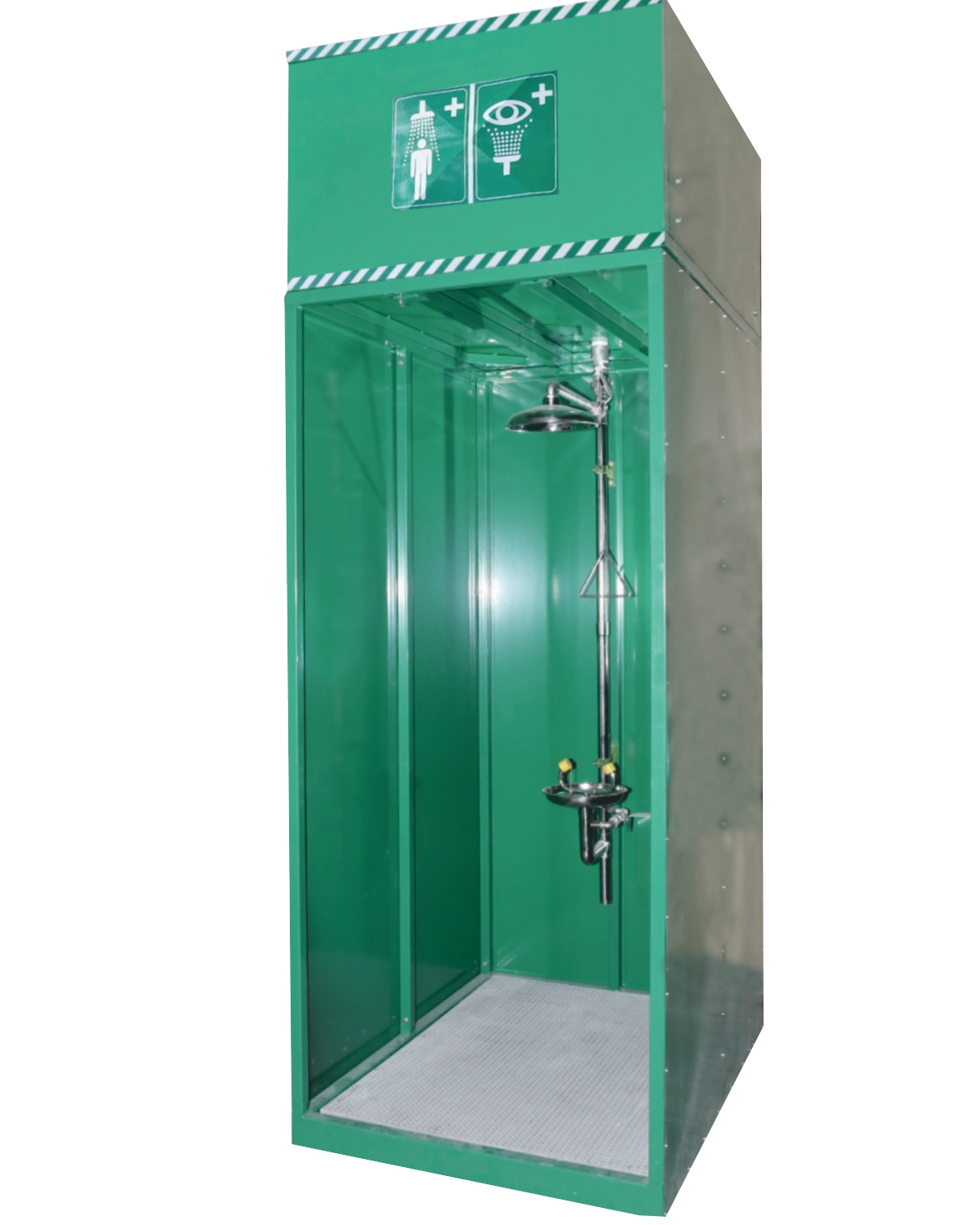 Emergency Shower and Eye/Face Wash with Overhead 630/1260 LT Water ...