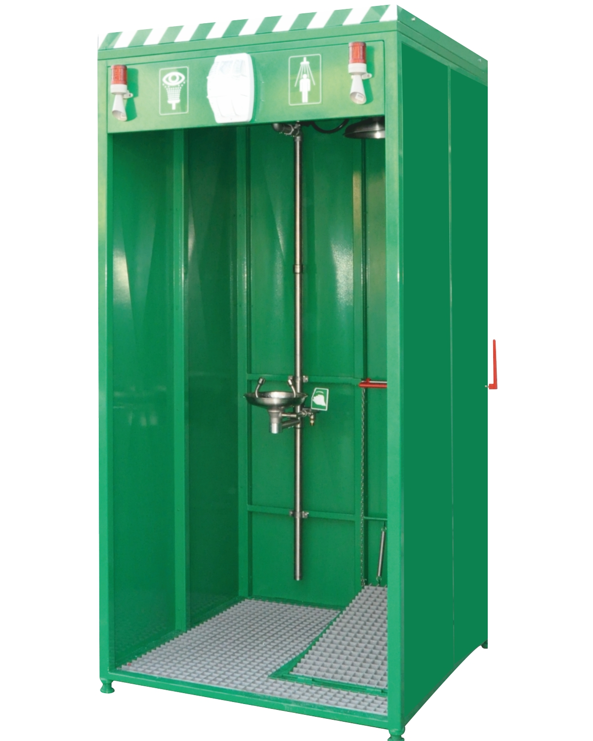 Safety Shower Heated : Cubicle cabin mounted showers istec type ccm İşçi